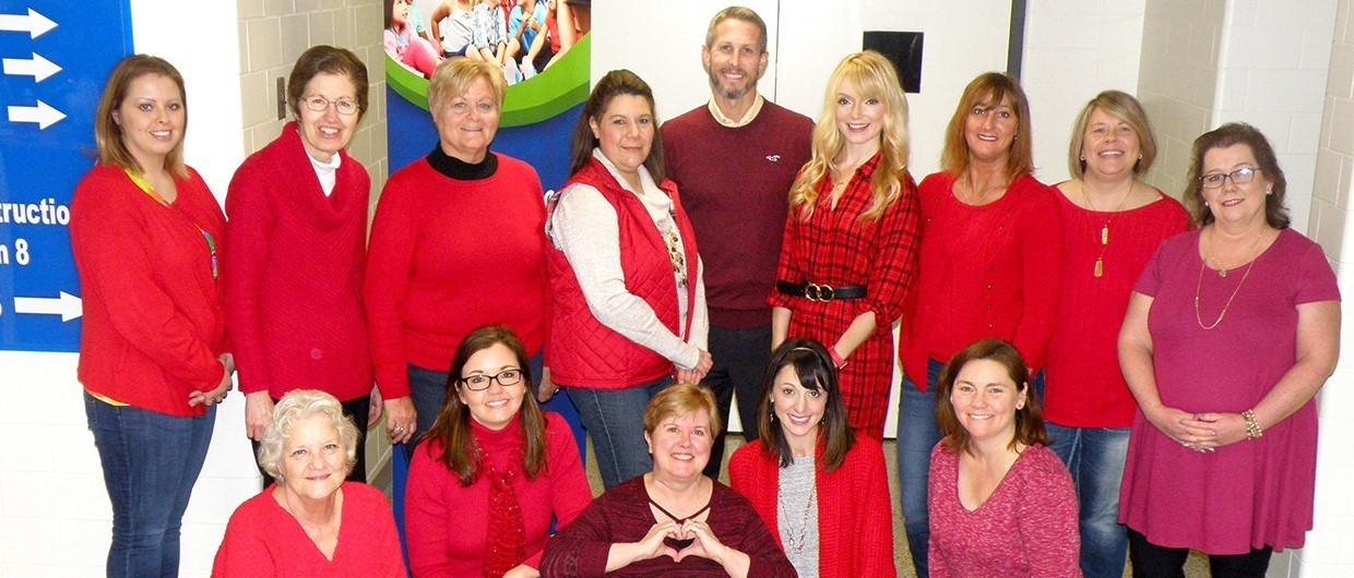 ESC Staff - GO RED Day