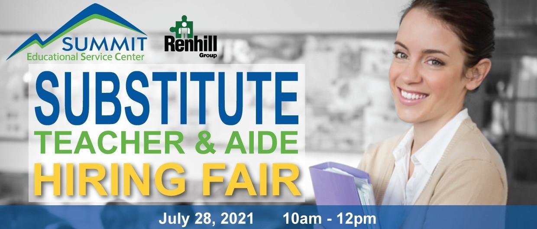 Substitute Hiring Fair - July 28th, 2021